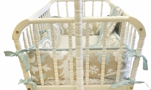 Picket Fences Cradle Bedding