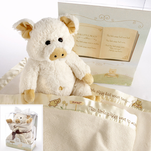 �Pig in a Blanket� Two-Piece Gift Set in Adorable Vintage-Inspired Gift Box