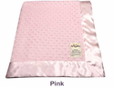 Pink Dot Velour Baby Blanet by My Blankee