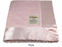 Pink Embossed Baby Security Blanket