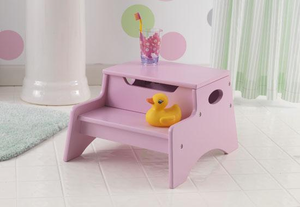 Pink Kids Step 'N Store Stool