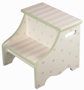 Pink Stripe Kids Steps Stool