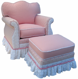 Pink Taffy Adult Empire Rocker Glider Chair