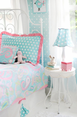Pixie Baby in Aqua Full Duvet Bedding Set