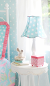 Pixie Baby in Aqua Lamp