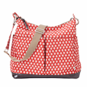 Poppy Red 2 Pocket Hobo Diaper Bag