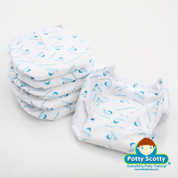 Potty Scotty - 2 in 1 WATERPROOF PUL Potty Training Pants, 6PK