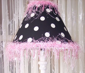 Pretty Pink and Licorice Lamp Shade