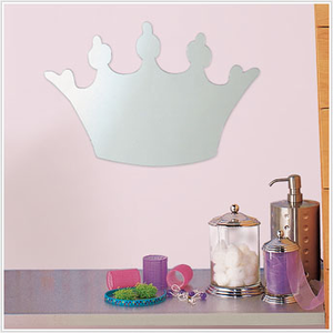 Princess Crown Peel and Stick Mirror