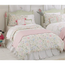 Princess Floral Girls Twin Duvet Cover