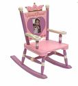 Princess Mini Rocker Wooden Rocking Chair