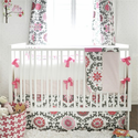 Ragamuffin in Pink Baby Bedding Set