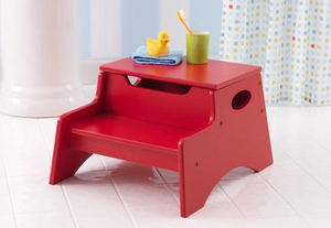 Red Kids Step 'N Store Stool