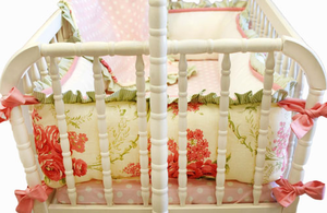 Roses for Bella 2 Piece Cradle Bedding set by New Arrivals Inc