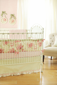 Roses for Bella Crib bedding collection