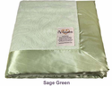 Sage Green Embossed Paisley Security Blanket