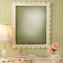 Scalloped Girls Wall Mirror