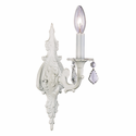 Scroll White Single Wall Sconce