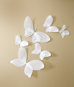 Sheer Butterflies, Set of  6