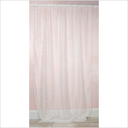 Sheer Window Panel with White Dots, 100x52