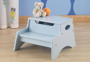 Sky Blue Kids Step 'N Store Stool by Kid Kraft - on backorder until August 2013