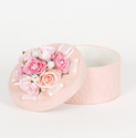 Small Pink Rose and Pearl Covered Box
