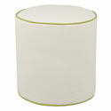 Soft White Pouf Ottoman by Oilo Studio