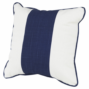 Solid Band Pillow 18 x 18 - Cobalt Blue