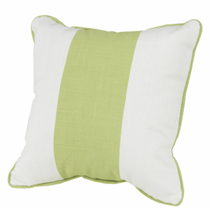 Solid Band Pillow 18 x 18 , Spring Green 16 x 16