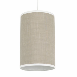 Solid Taupe Cylinder Pendant Light