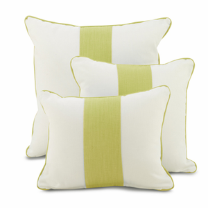 Spring Green Band Pillows by Oilo Studio, 16 x 16