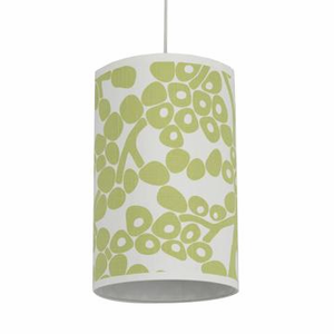 Spring Green Modern Berries Cylinder Pendant Light