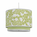 Spring Green Modern Berries Double Cylinder Lamp