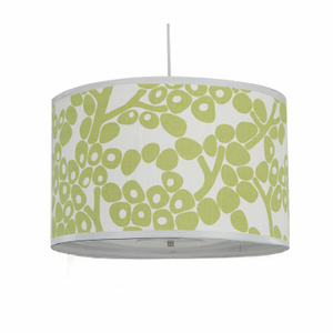 Spring Green Modern Berries Large Cylinder Pendant Lighting