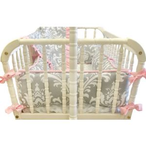Stella Gray Cradle Bedding
