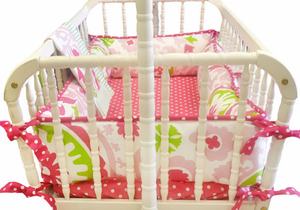 Strawberry Fields Cradle Bedding by New Arrivals Inc