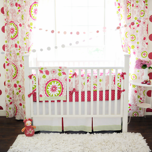Strawberry Fields Girls Crib Bedding Set