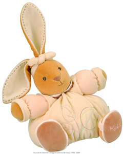 Stuffed Plush Rabbit with Leaf Motif