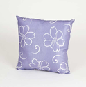Sweet Potato Lulu Lavender Pillow with White Flowers