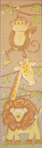 Tan Safari Kids Growth Chart