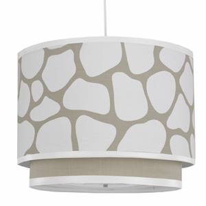 Taupe Cobblestone Double Cylinder Pendant Light