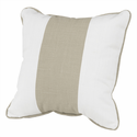 Taupe Solid Band Nursery Pillow, 18 x 18