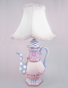 Teapot Hand Painted Kids Lamp - NOW Available