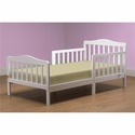 The Orbelle Contemporary Toddler Bed In White