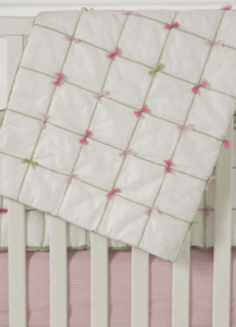 Tufted Crib Quilt by Whistle and Wink