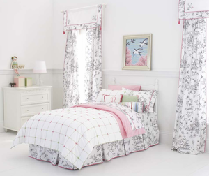 Tufted Girls Twin Quilt by Whistle and Wink