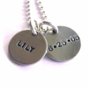 Two Tag hand Stamped Mommy Necklace