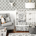 Urban Ikat in Gray 2 Piece Baby Bedding Set