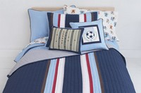 Vintage Sports Twin Sheet Set by Whistle and Wink