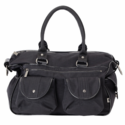 Washed Nylon Patent Carry All Diaper Bag